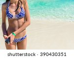 close up shot of young female... | Shutterstock . vector #390430351
