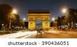 arc de triomphe and street view ... | Shutterstock . vector #390436051