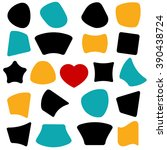 vector shapes. banner  star... | Shutterstock .eps vector #390438724