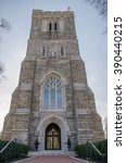 An Ornate Old Stone Church Wit...
