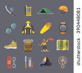 set of flat icons on the theme... | Shutterstock . vector #390448081
