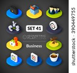 isometric flat icons  3d... | Shutterstock .eps vector #390449755