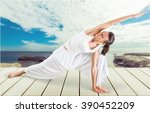 yoga. | Shutterstock . vector #390452209
