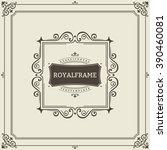 vector frame template. vintage... | Shutterstock .eps vector #390460081