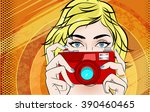 comic book pop art illustration ... | Shutterstock .eps vector #390460465