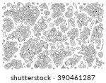 sketchy vector hand drawn... | Shutterstock .eps vector #390461287