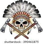 native american indian skull...