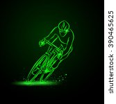 cycling race. front view....   Shutterstock .eps vector #390465625
