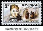 poland   circa 1975  a stamp... | Shutterstock . vector #39046624