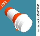pill orange bottle. medical... | Shutterstock .eps vector #390471049