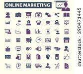online marketing icons    Shutterstock .eps vector #390471445