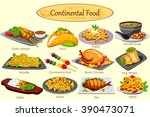 collection of delicious... | Shutterstock .eps vector #390473071