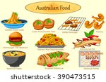 collection of delicious... | Shutterstock .eps vector #390473515