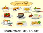 collection of delicious... | Shutterstock .eps vector #390473539