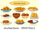 collection of delicious... | Shutterstock .eps vector #390473611