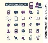 communication icons  | Shutterstock .eps vector #390478624