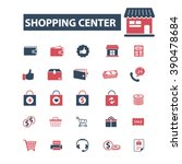 shopping center icons  | Shutterstock .eps vector #390478684
