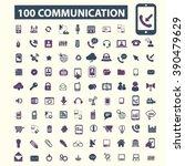 communication icons  | Shutterstock .eps vector #390479629