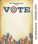 be responsible and vote ... | Shutterstock .eps vector #390481294