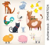 set of popular colorful vector... | Shutterstock .eps vector #390487024