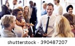 diversity group of people meet... | Shutterstock . vector #390487207