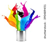 abstract color splash splashes... | Shutterstock . vector #390489451