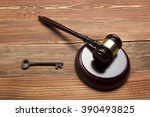 judges auctioneer gavel  retro... | Shutterstock . vector #390493825