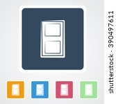 square flat buttons icon of... | Shutterstock .eps vector #390497611