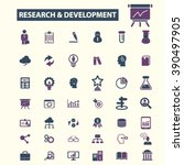 research development icons  | Shutterstock .eps vector #390497905