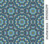 seamless oriental ornamental...   Shutterstock .eps vector #390500299
