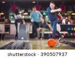 Bowlingball Rolls Towards The...