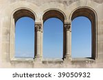 ancient archs with view into... | Shutterstock . vector #39050932