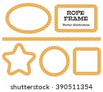 different frame ropes. top view....   Shutterstock .eps vector #390511354