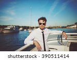 business portrait of young man... | Shutterstock . vector #390511414