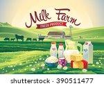 rural landscape with set of...   Shutterstock .eps vector #390511477
