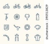 bicycle line icons | Shutterstock .eps vector #390513829