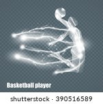 basketball player  flying... | Shutterstock .eps vector #390516589
