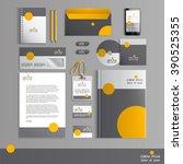 grey corporate identity... | Shutterstock .eps vector #390525355