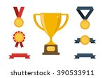 trophy and awards flat design... | Shutterstock .eps vector #390533911