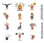 circus flat design carnival fun ... | Shutterstock .eps vector #390533941
