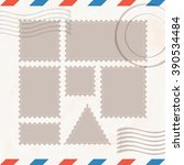 postage stamps template  ... | Shutterstock .eps vector #390534484