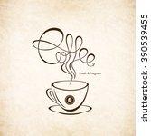 restaurant or coffee house menu ... | Shutterstock .eps vector #390539455