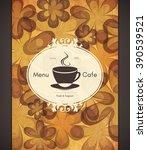 restaurant or coffee house menu ... | Shutterstock .eps vector #390539521