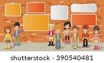 couple of cartoon children in... | Shutterstock .eps vector #390540481