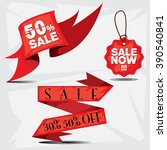 banner sale now tag | Shutterstock .eps vector #390540841