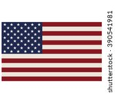 american flag isolated on a... | Shutterstock .eps vector #390541981