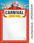the carnival funfair and magic... | Shutterstock .eps vector #390544549