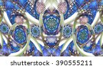 Abstract Mosaic Ornament With...