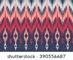 geometric ethnic oriental ikat... | Shutterstock .eps vector #390556687