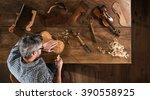 top view. artisan luthier... | Shutterstock . vector #390558925